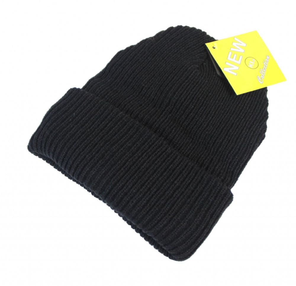 ST31-HT6578 Black thermal beanie unisex hat winter beanie hat